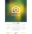 March 2017 Wall Monthly Calendar for 2017 Year vector image