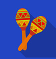 mexican maracas icon in flat style isolated on vector image