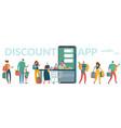 mobile supermarket smartphone discount app vector image