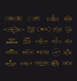 modern golden luxury emblems for shopping tag vector image