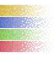 mosaic banners vector image vector image