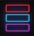 neon light banners set neon light frame vector image vector image