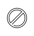 not allowed sign - line design single isolated vector image vector image
