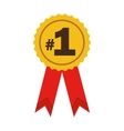 number one ribbon award vector image