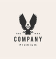 owl king hipster vintage logo icon vector image vector image