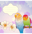 Parrots on a branch vector image vector image