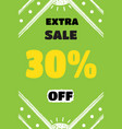 picture on the theme of super discount sales vector image