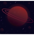 planet with the sphere of vector image vector image