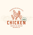premium quality chicken meat and eggs abstract vector image