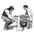primitive cotton gin vintage vector image vector image
