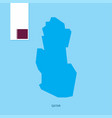 qatar country map with flag over blue background vector image