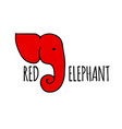 Red elephant design