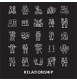 relationship editable line icons set on vector image vector image