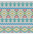 seamless pattern of knitted texture vector image vector image