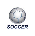 shiny sphere soccer ball logo concept design vector image