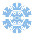 simple snowflake element vector image vector image