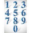 Smash numbers vector image vector image