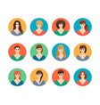 smiling people portraits women girls faces vector image