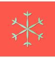 Snowflake Christmas Flat Icon vector image vector image