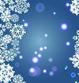 Snowflakes Winter seamless border seamless texture vector image vector image