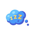 speech bubble with zzz sleep flat icon vector image