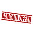 square grunge red bargain offer stamp vector image vector image