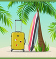 summer holidays travel vector image vector image