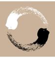 Taichi yin and yang vector image vector image