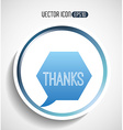 text balloon design vector image vector image