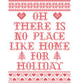 there is no place like home for holiday christmas vector image vector image