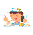 thoughts in my head vacation planning vector image vector image