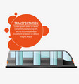 transport public electric train design vector image vector image