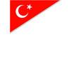 turkish flag symbol border frame corner vector image