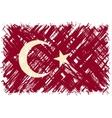 Turkish grunge flag vector image vector image