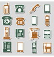 various phone symbols and icons stickers set eps10 vector image vector image