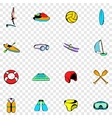 Water Sport set icons vector image vector image