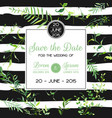 wedding invitation or congratulation floral card vector image