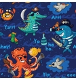 Seamless pattern with underwater pirates vector image