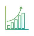 financial graph chart bar arrow growth concept vector image