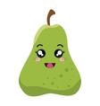 fresh fruit kawaii style vector image