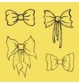 Hand drawn Bows vector image