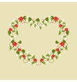 Heart framed by flowers vector image