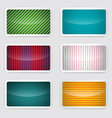 Background Set - Retro Paper Colorful Cards vector image