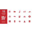 15 money icons vector image vector image