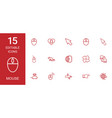 15 mouse icons vector image vector image