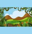 a beautiful jungle landscape vector image
