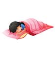 A young woman sleeping vector image