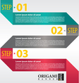 Abstract banner in three step vector image