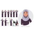 arabic business womanyoung girl in a cartoon vector image vector image