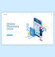 banner online pharmacy store vector image